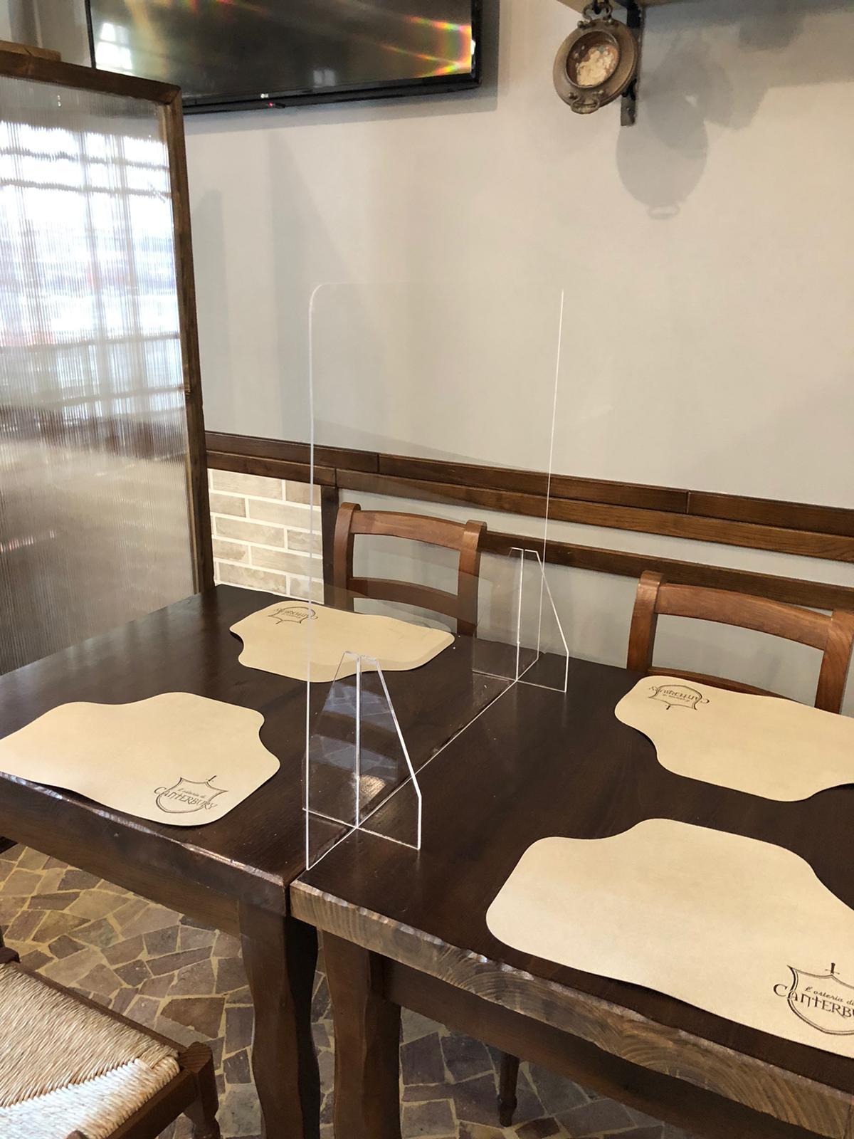 Barriera e parafiato da tavolo